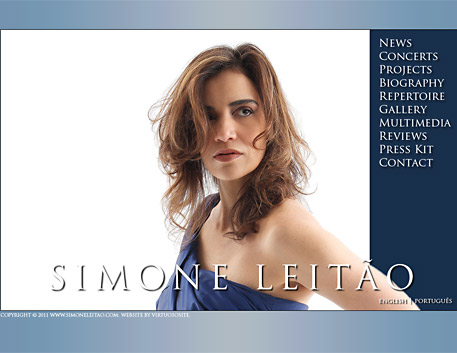 Simone Leitao's website screenshot